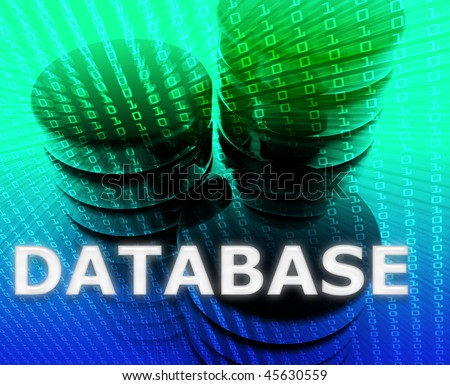 Database Data storage abstract, computer technology concept illustration - stock photo