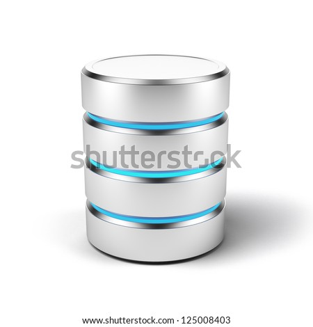 Database icon isolated on a white background - stock photo