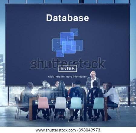 Database Network Technology Enter Concept - stock photo
