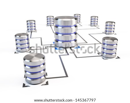 Database Networking concept - stock photo