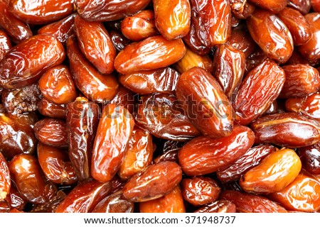 Date palm on a traditional craftsman market.Horizontal image. - stock photo