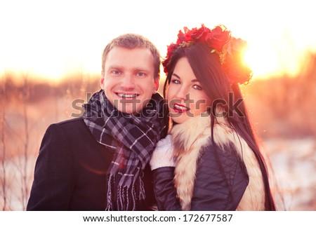Dating couple - stock photo