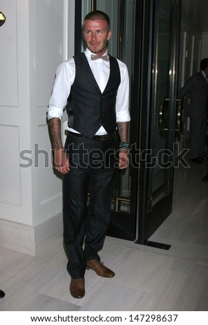 "David Beckham arrives as Chef Gordon Ramsay Celebrates the opening of his resturant ""Gordon Ramsay at the London West Hollywood"" W. Hollywood,  CA June 4, 2008 - stock photo"