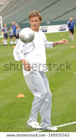 David Beckham at the press conference for David Beckham Launches Home Depot Soccer Academy, The Home Depot Center Stadium Club, Carson, CA, June 02, 2005 - stock photo