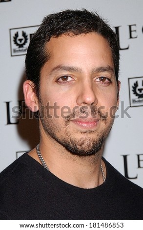 David Blaine at Premiere of I AM LEGEND, WAMU Theatre at Madison Square Garden, New York, NY, December 11, 2007 - stock photo