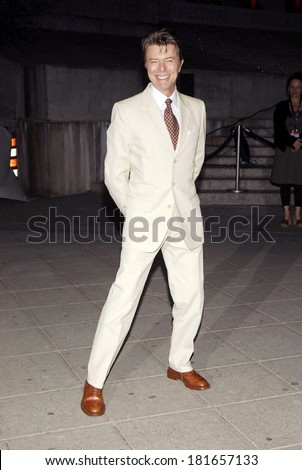 David Bowie at Vanity Fair Party for the 6th Annual Tribeca Film Festival, New York State Supreme Courthouse, New York, NY, April 24, 2007 - stock photo
