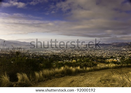 Dawn in the valley in Oaxaca Mexico - stock photo
