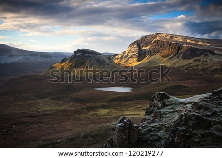 Dawn on the Quiraing - stock photo