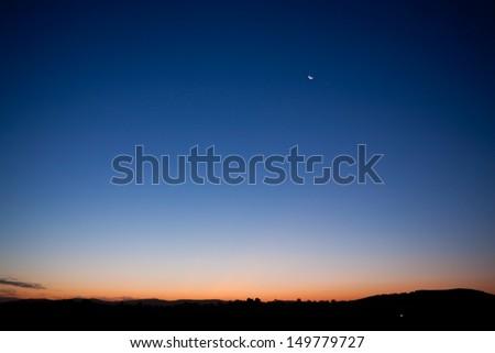Dawn sky - stock photo