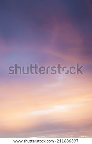 Dawn sky, abstract Sunrise. - stock photo