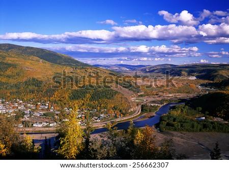 Dawson City and Bonanza Creek, Yukon, Canada - stock photo