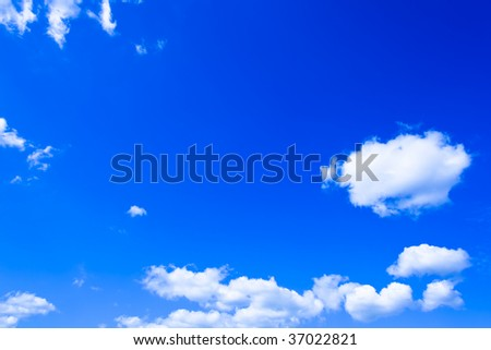 Day blue cloudly sky with copyspace - stock photo