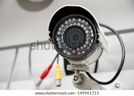Day & Night Color IP surveillance camera - stock photo