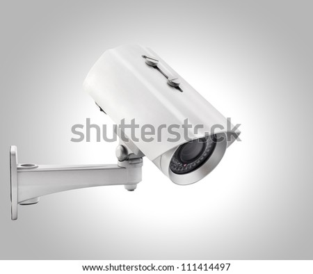 Day & Night Color wireless surveillance camera, isolated (with clipping paths) - stock photo