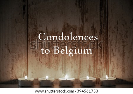 Day of mourning in Belgium - stock photo