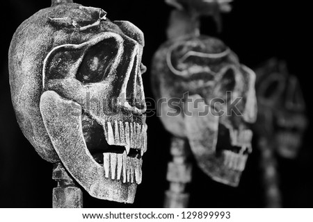 Day of the Dead (Dia De Los Muertos) characters - stock photo