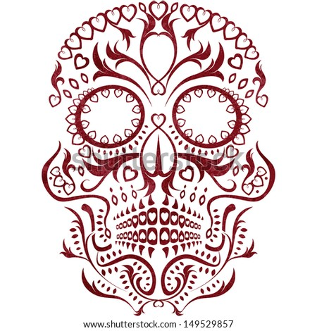 day of the dead skull pattern - stock photo