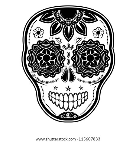 Day of the dead sugar skull - stock photo