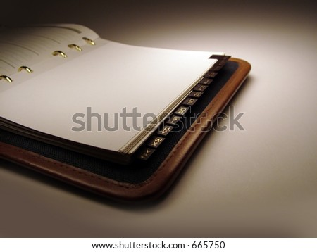 Day Planner/Address Book - stock photo