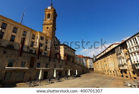 Day view  of historic part of  Vitoria-Gasteiz.  Basque Country, Spain - stock photo