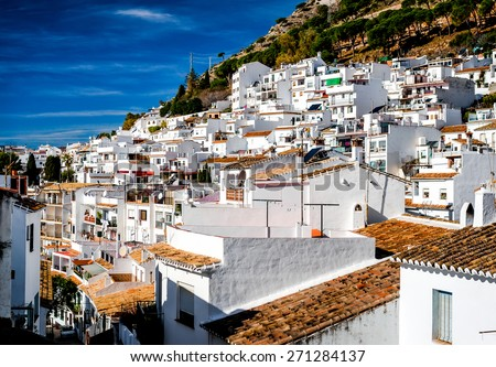 Day view of Mijas. Mijas is a lovely Andalusian town on the Costa del Sol. Spain - stock photo