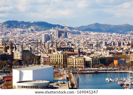 Day  view of picturesque Barcelona cityscape, Spain - stock photo
