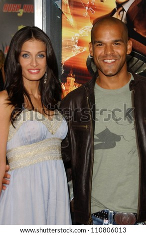 "Dayanara Torres and Amaury Nolasco at the Los Angeles Premiere of ""Rush Hour 3"". Mann's Chinese Theater, Hollywood, CA. 07-30-07 - stock photo"