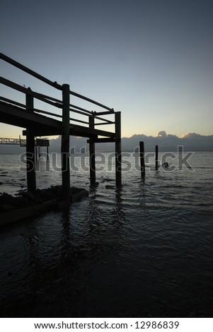 Daylight on a jetty - stock photo