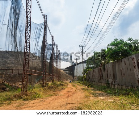 Daytime in old factory area - stock photo