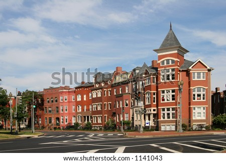 DC Rowhouses- south Logan Cr - stock photo