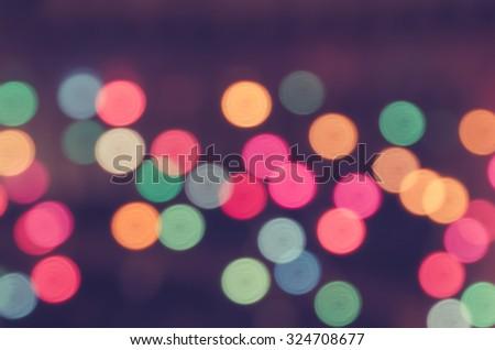 De focused/Blurred image of lights. Blur lights. Light bokeh. - stock photo