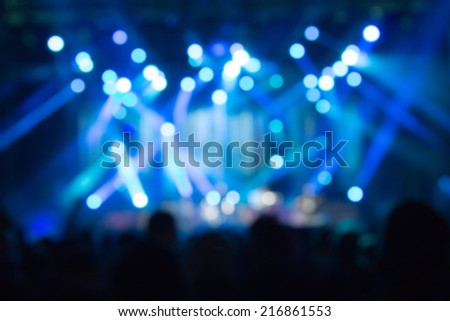 De-focused concert crowd.  - stock photo