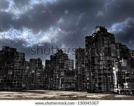 Dead city - stock photo