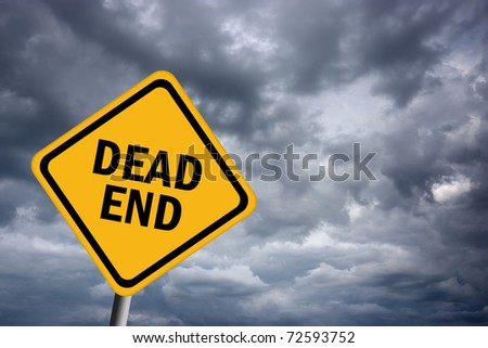 Dead end road sign - stock photo