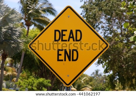 Dead End Sign - stock photo