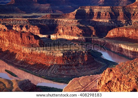Dead Horse Point, Colorado river, Utah, USA - stock photo