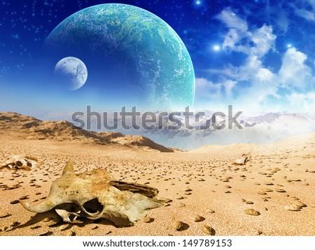 Dead Planet - stock photo