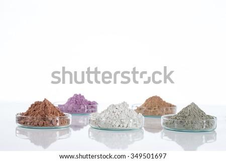 Dead Sea mud in a dish - stock photo