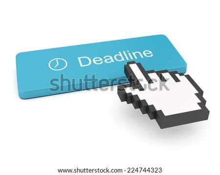 Deadline Button on Keyboard  - stock photo