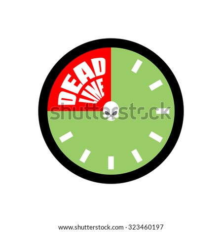 Deadline. Ends up being on clock.    - stock photo