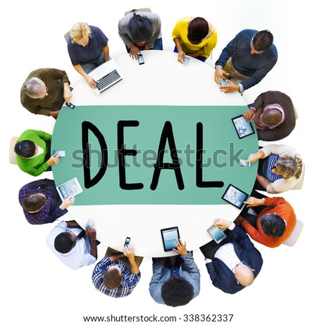 Deal Achievement Cooperation Solution Collaboration Concept - stock photo