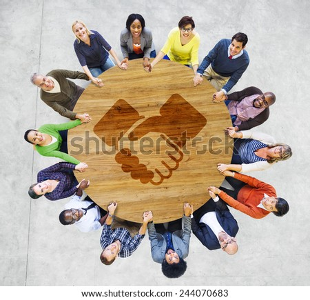 Deal Agreement Business Goal Offer Opportunity Solution Concept - stock photo