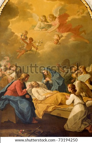 death of st. Joseph from Vienna church of st. Joseph - stock photo