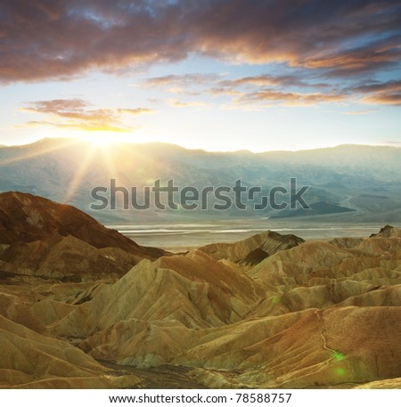 Death valley,California - stock photo