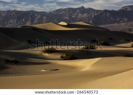 Death Valley - Mesquite Flat Sand Dunes - stock photo