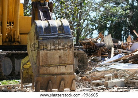 Debris removable due to Hurricane Katrina. - stock photo