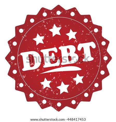 debt grunge stamp - stock photo