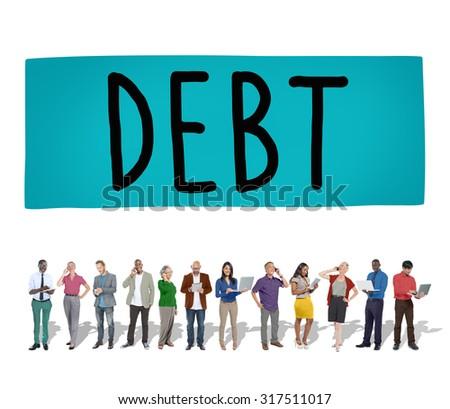 Debt Obligation Credit Finance Debit Concept - stock photo