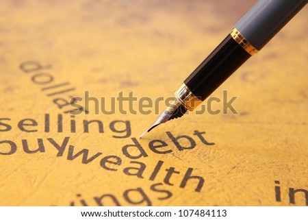 Debt selling concept - stock photo
