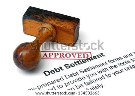 Debt settlement - stock photo